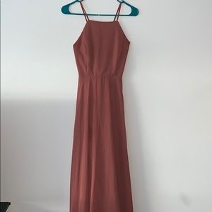 Lulus Rusty Rose Maxi Dress